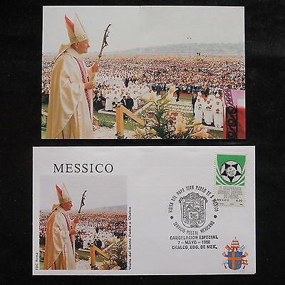 ZS-S427 MEXICO - John Paul II, Visit To Chalco, 1990, W/Photo Cover