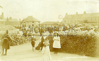 RA433 Early RP POSTCARD The Promenade - Hornsea - Posted 1911