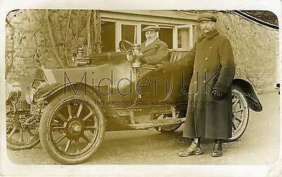 RA420 Early RP POSTCARD Belsize 2-Seater Vintage Car - 1910s