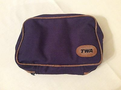 TWA  airline Amenity Wash Bag