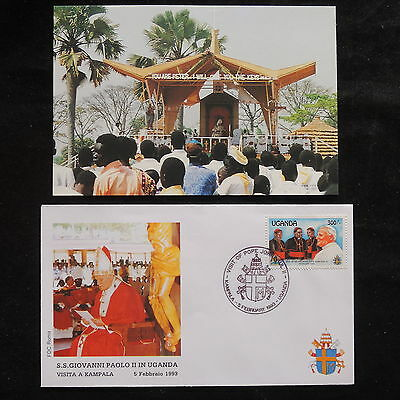 ZS-S516 UGANDA IND - John Paul II, Visit To Kampala, W/Photo 1993 Fdc Cover