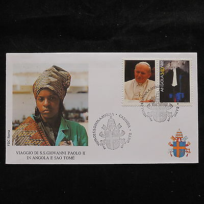 ZS-S543 ANGOLA IND - John Paul II, Visit To Cabinda, Africa, 1992 Cover
