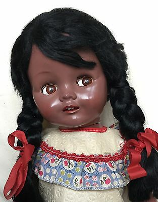 """16"""" Pedigree Dusky Walker Doll all original with dress onesie shoes and socks"""