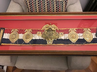 Documented Framed Rocky Marciano Heavyweight Championship Boxing Belt