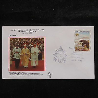 ZS-S667 COLOMBIA - John Paul II, Visit To Cartagena, 1986 Cover