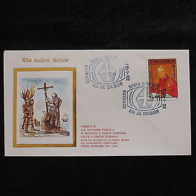 ZS-S698 DOMINICAN REP. - John Paul II, Visit, S.To Domingo, 1979, Fdc Cover