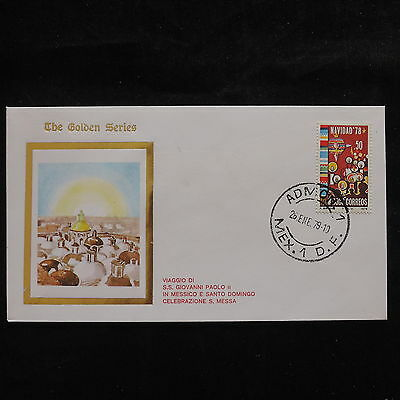 ZS-S700 MEXICO - John Paul II, Visit To Admon, 1979, Golden Series Cover