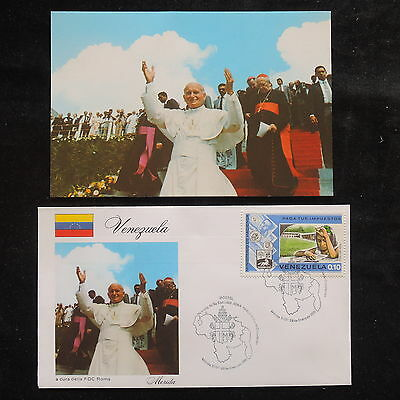 ZS-S751 VENEZUELA - John Paul II, Visit To Merida, Fdc, 1985, W/Photo Cover