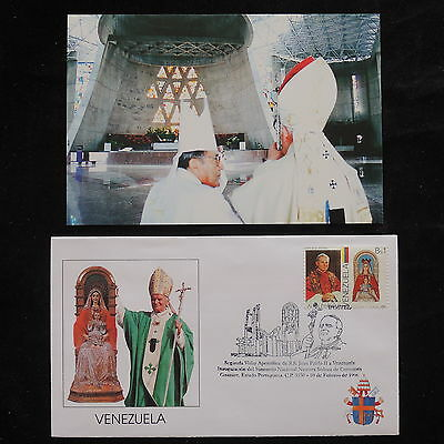 ZS-S809 VENEZUELA - John Paul II, Visit To Guanare, 1996, W/Photo Cover
