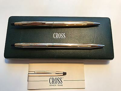 Set of two Cross 10 carat rolled gold ballpoint pens