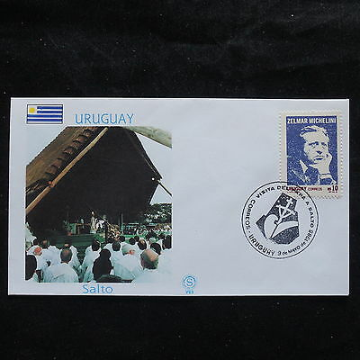 ZS-S925 URUGUAY - John Paul II, Visit To Salto, 1988, Great Franking Cover