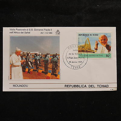 ZS-S938 CHAD IND - John Paul II, Visit To Moundou, 1990, Fdc Cover
