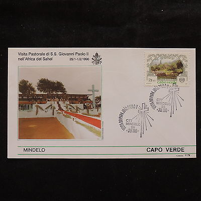 ZS-S939 CAPE VERDE IND - John Paul II, Visit To Mindelo, 1990, Nature Cover