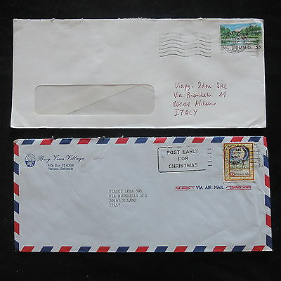 ZS-T218 BAHAMAS IND - Cars, Christmas, Lot Of 2 Different Covers