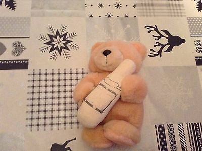 Vintage Forever Friend bear with champagne bottle