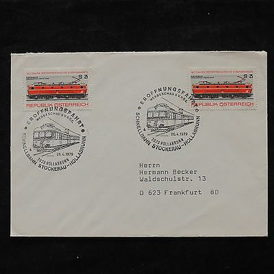 ZS-U961 TRAINS - Austria, 1979, Airmail To Germany Cover