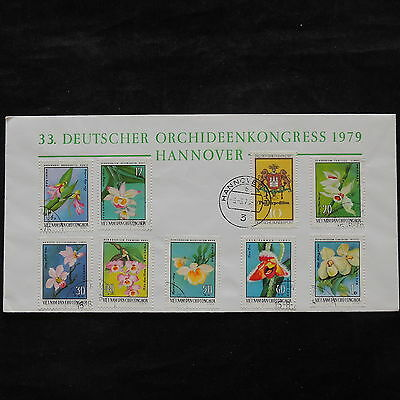 ZS-V254 FLOWERS - Vietnam, 1979 Orchid Congress, Great Franking Cover