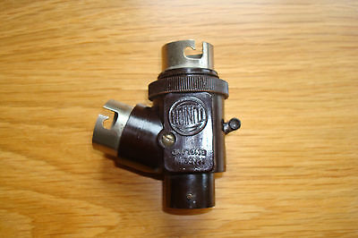 Vintage Tunion Bakelite 2 Way Light Fitting Adaptor With Switch