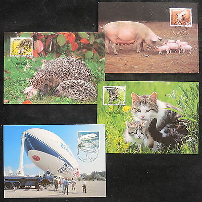 ZS-V868 DOMESTIC ANIMALS - Christmas, 2004, Maximum Card, Lot Of 4 Postcards