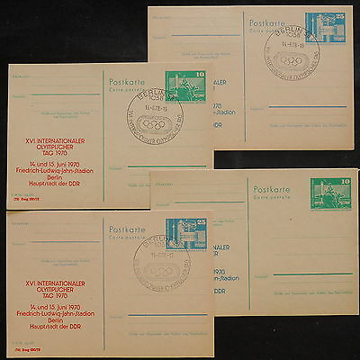 ZS-V873 GERMANY/DDR - Entire, 1978, International Olympic Day Lot Of 4 Postcards