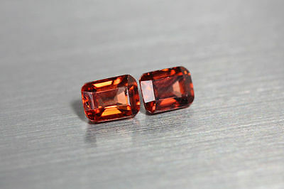 2.330 Cts Fire 100% Natural Earth Mine Royal Top Red Zircon Loose Gemstone Pair!