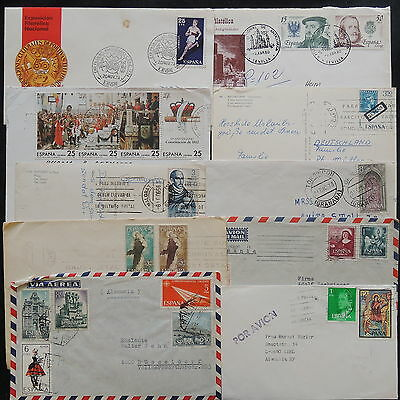 ZS-V989 SPAIN - Covers, Great Lot Of 10 Airmail To Germany