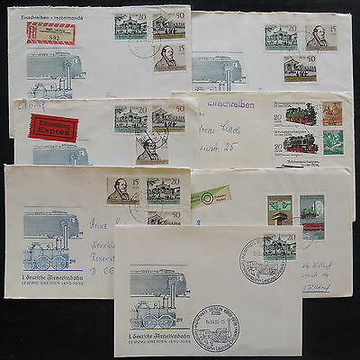 ZS-W002 TRAINS - Germany/Ddr, 1988, Berlin, Germai Rail Remore, Lot Of 7 Covers