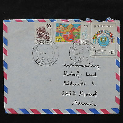 ZS-W015 CHILE - Cover, 1985, Great Airmail To Germany Cover