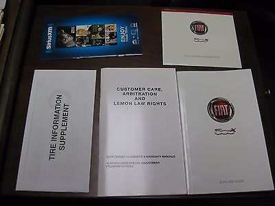 2016 Fiat 500x Owners Manual W/ CD