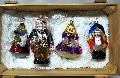 "Beautiful  Polonaise ""Nutcracker Suite"" Christmas Ornaments In Crate"