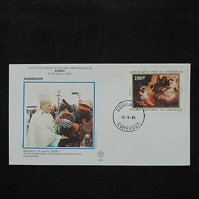 ZS-W129 CAMEROON IND - John Paul Ii, Visit To Douala, 1985, Great Franking Cover