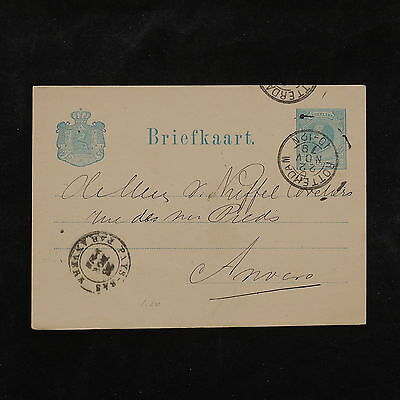 ZS-W249 NETHERLANDS - Entire, Rotterdam, 1879, Great Airmail Postcard