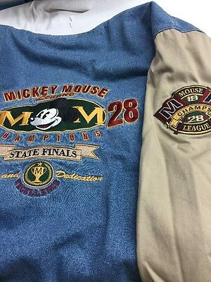 Mickey Mouse League Champ 1928 State Finals Mens XL Bomber Jacket Coat