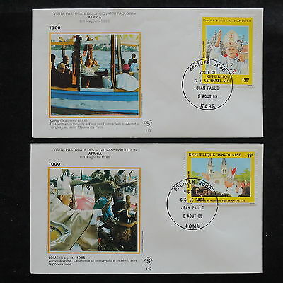 ZS-W430 TOGO IND - John Paul Ii, Visit To Africa, Lome, Kara, 1985 2 Covers