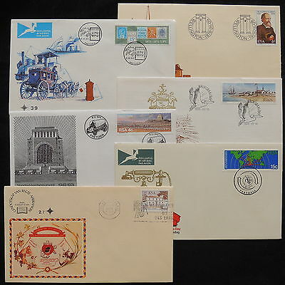 ZS-W574 SOUTH AFRICA IND - Fdc, 1974, Great Franking Airmail, Lot Of 6 Covers