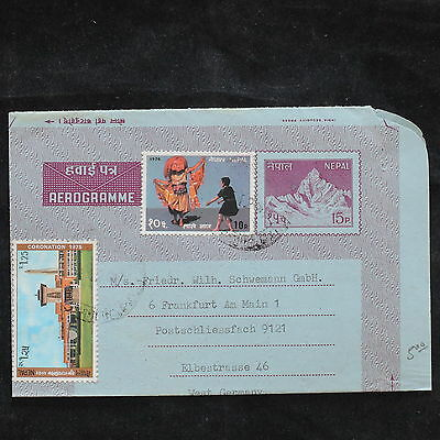 ZS-X173 NEPAL - Costumes, Entire, Folklore, Great Franking To Germany Cover