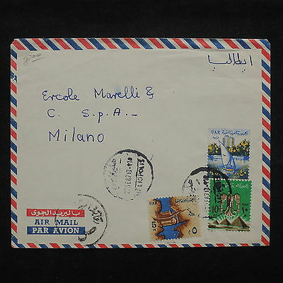 ZS-X460 UAR - Cover, 1987, Great Franking, Airmail To Milan, Italy