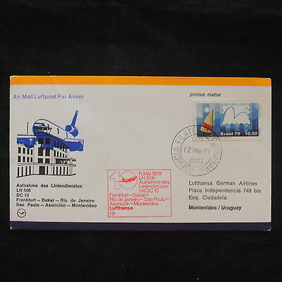 ZS-X680 BRAZIL - Lufthansa, 1979, Flight To Montevideo, Printed Matter Cover