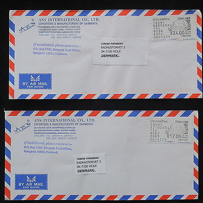 ZS-X988 THAILAND - Covers, Airmail To Denmark, Lot Of 2