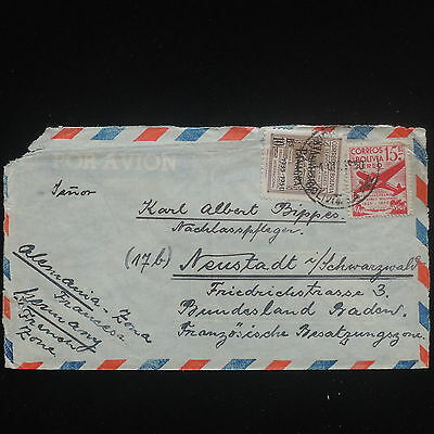 ZS-Y082 BOLIVIA - Cover, 1950 Airmail To Germany