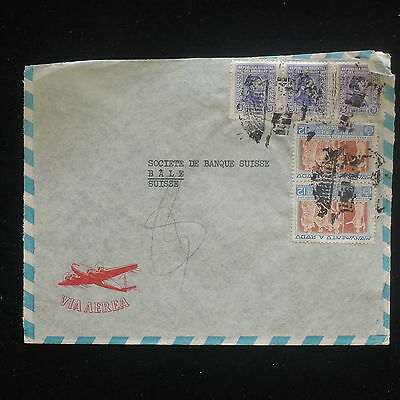 ZS-Y172 URUGUAY - Cover, Strip, Airmail To Switzerland