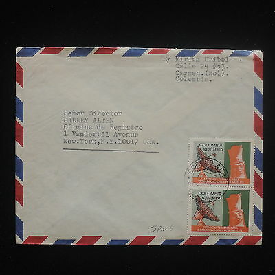 ZS-Y228 SPACE - Colombia, 1970 Great Franking To Usa Cover