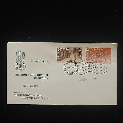 ZS-Y231 PAKISTAN - Fdc, Freedom From Hunger, 1963 Cover