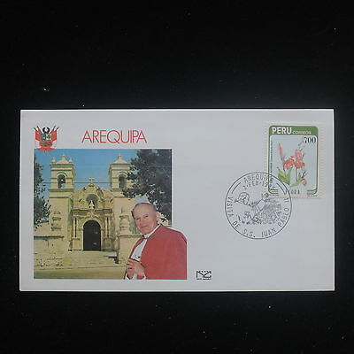 ZS-Y273 PERU - John Paul Ii, Visit To Arequipa, 1985, Great Franking Cover