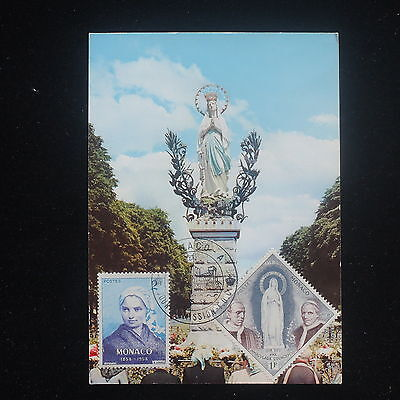 ZS-Y275 MONACO - Maximum Card, 1958, Religion, Monuments, Great Franking Cover