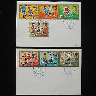 ZS-Y350 FOOTBALL - Paraguay, Germany 1984, Strip, Lot Of 2 Covers