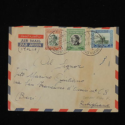 ZS-Y436 JORDAN - Airmail, 1960, Great Franking To Italy Cover