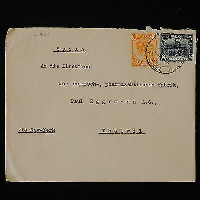 ZS-Y500 COLOMBIA - Cover, Great Franking To Switzerland By New York