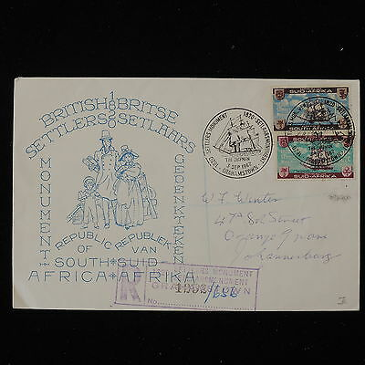 ZS-Y617 SOUTH AFRICA IND - Registered, 1962, Settlers Monument Cover