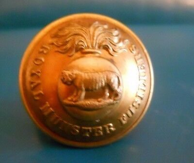 Officers Gilt Button . Royal Munster Fusiliers.